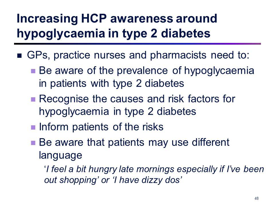 Increasing HCP awareness around hypoglycaemia in type 2 diabetes
