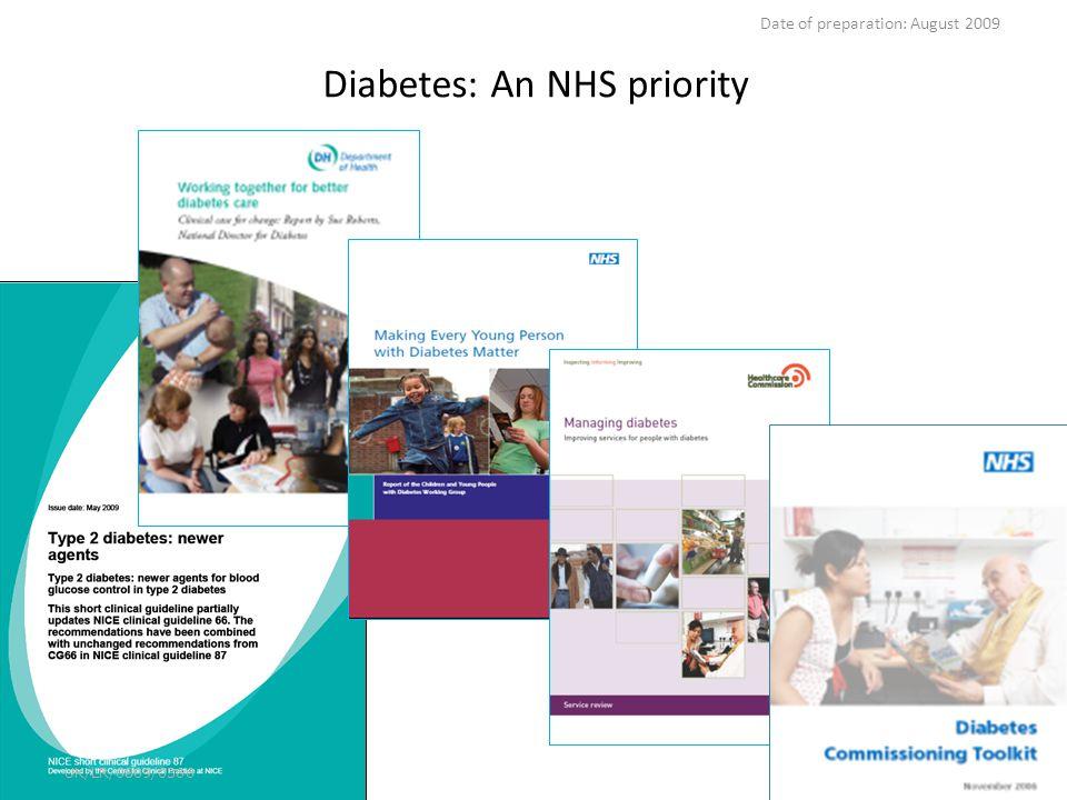 Diabetes: An NHS priority