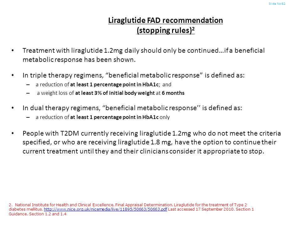 Liraglutide FAD recommendation (stopping rules)2