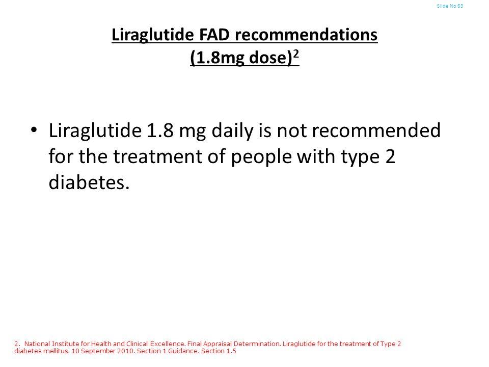 Liraglutide FAD recommendations (1.8mg dose)2