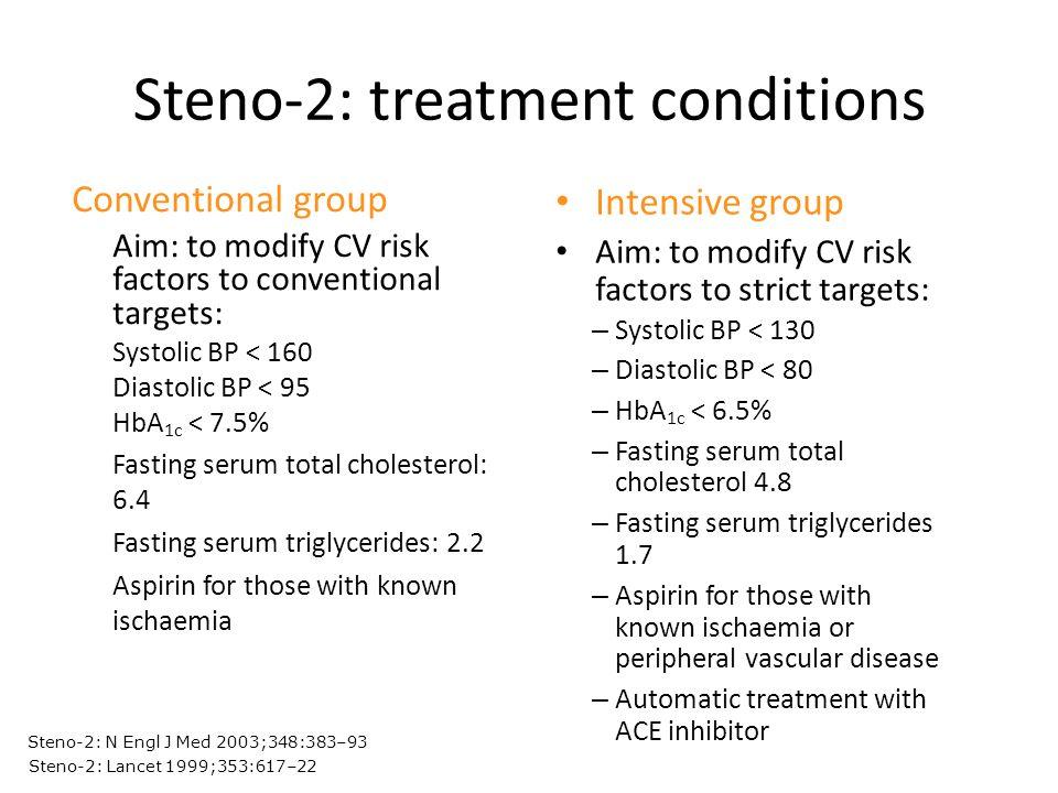 Steno-2: treatment conditions