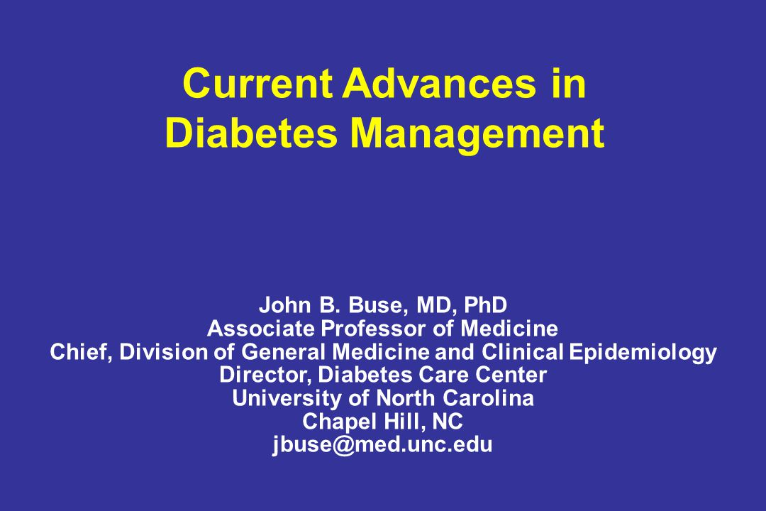 Current Advances in Diabetes Management