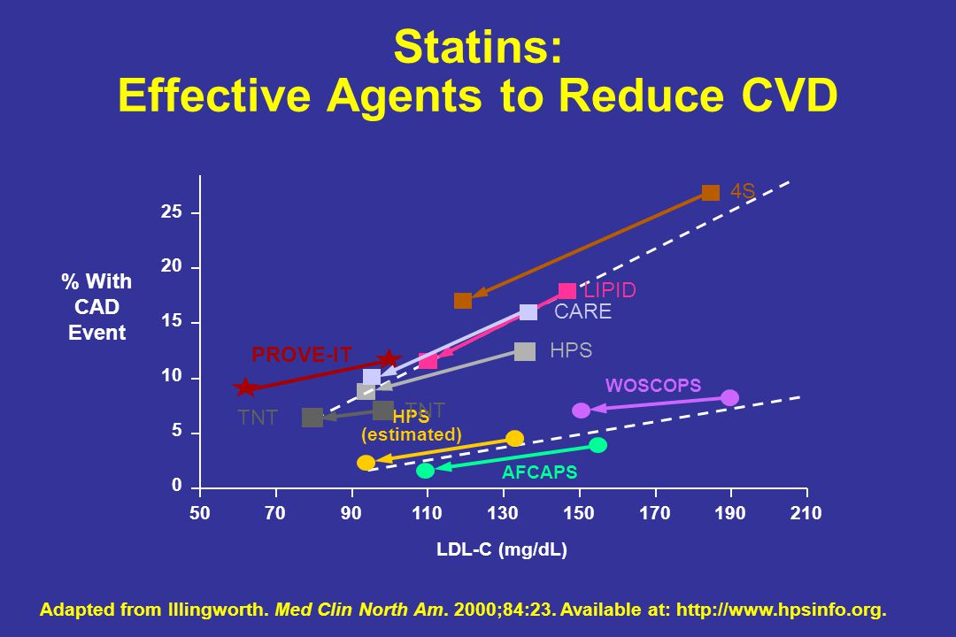 Statins: Effective Agents to Reduce CVD