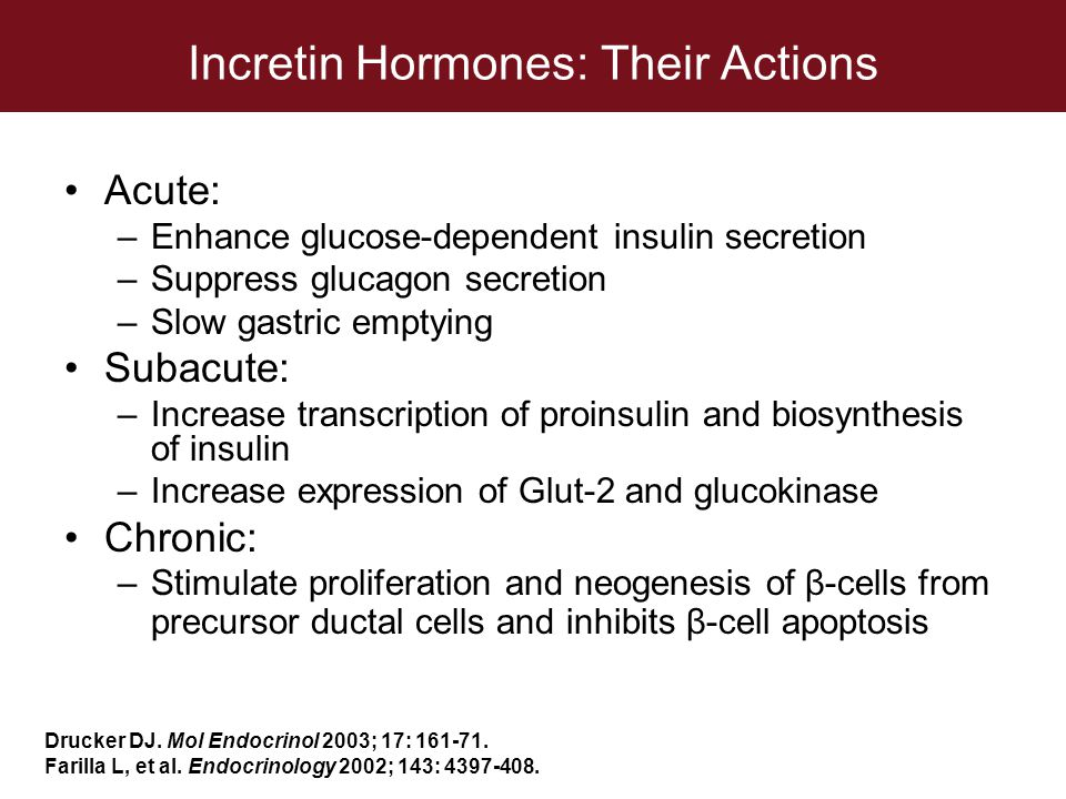 Incretin Hormones: Their Actions