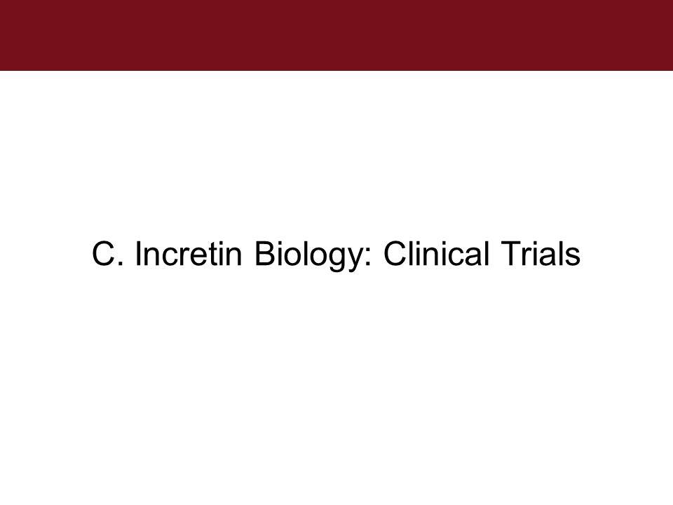 C. Incretin Biology: Clinical Trials