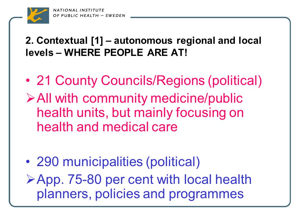 21 County Councils/Regions (political)
