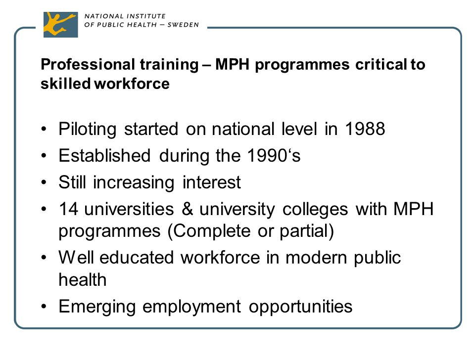 Professional training – MPH programmes critical to skilled workforce