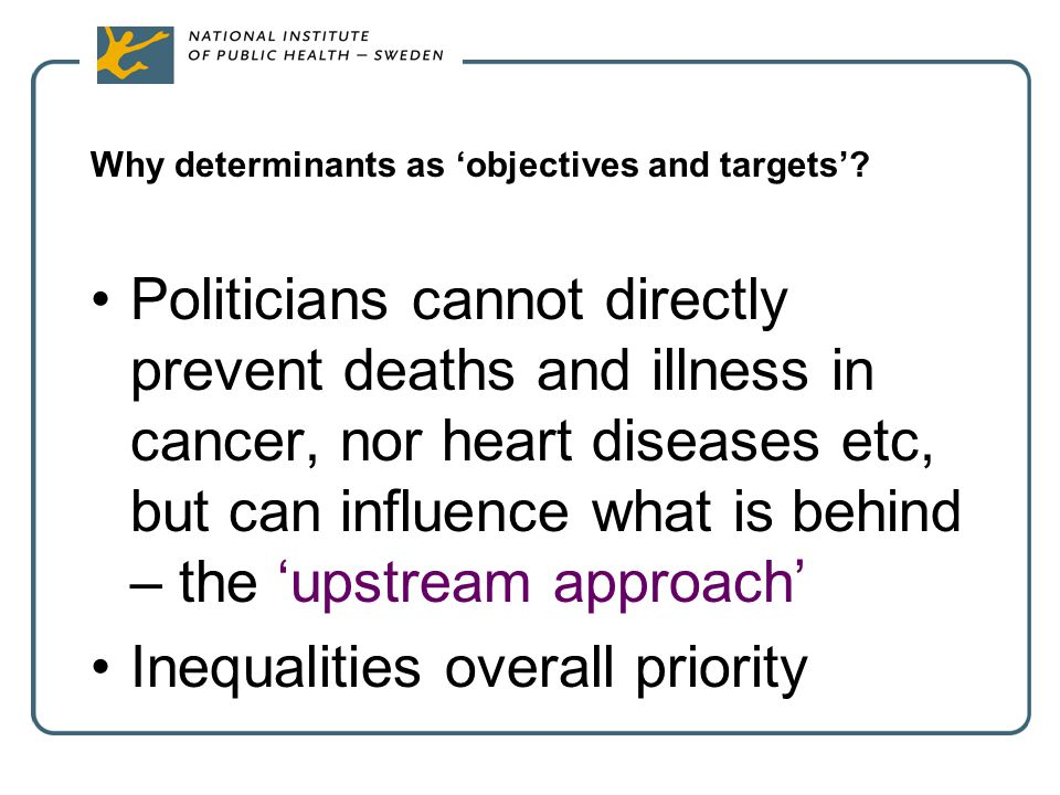 Why determinants as 'objectives and targets'