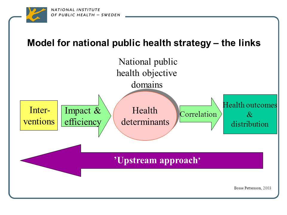 Model for national public health strategy – the links
