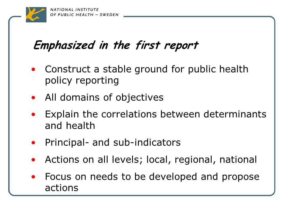 Emphasized in the first report