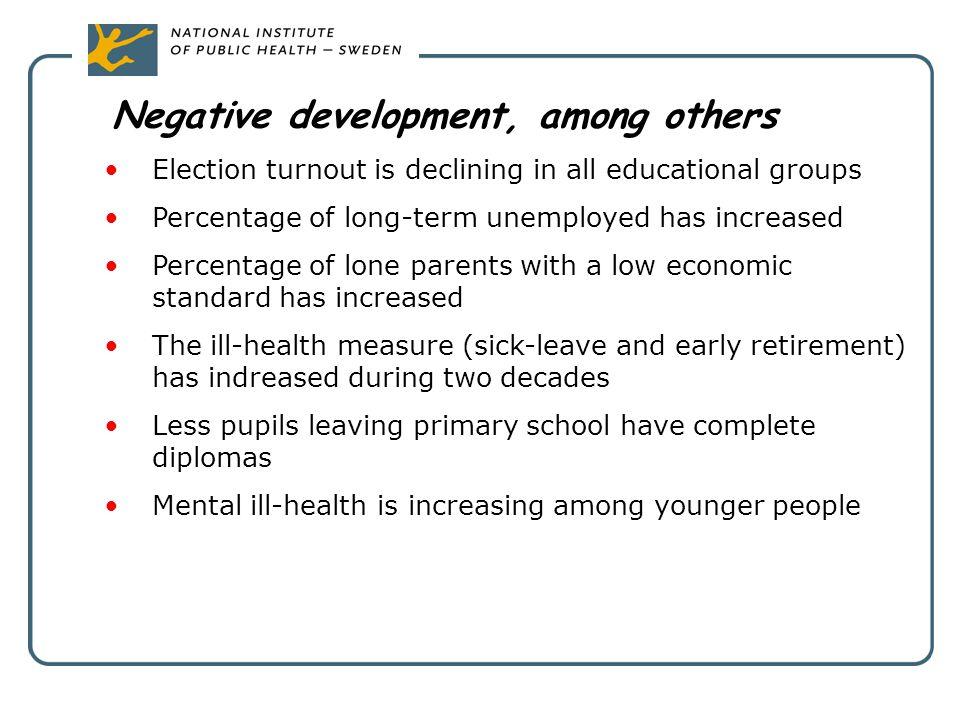 Negative development, among others