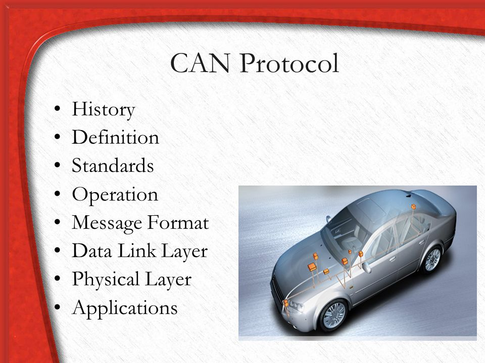 CAN Protocol History Definition Standards Operation Message Format