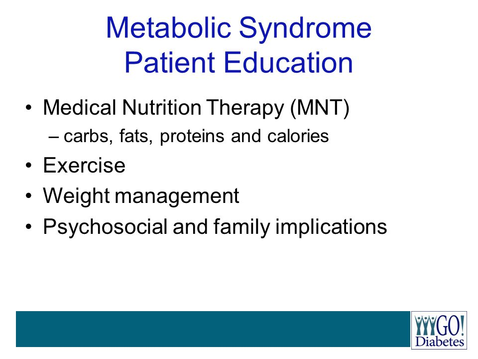 Metabolic Syndrome Patient Education