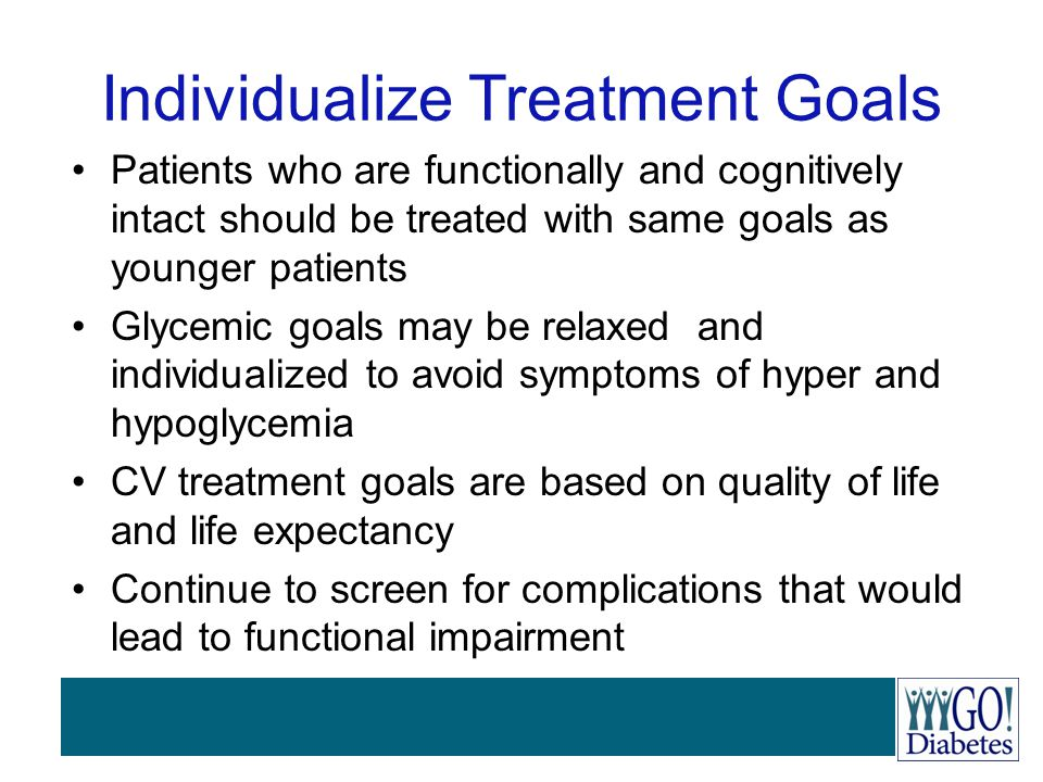 Individualize Treatment Goals