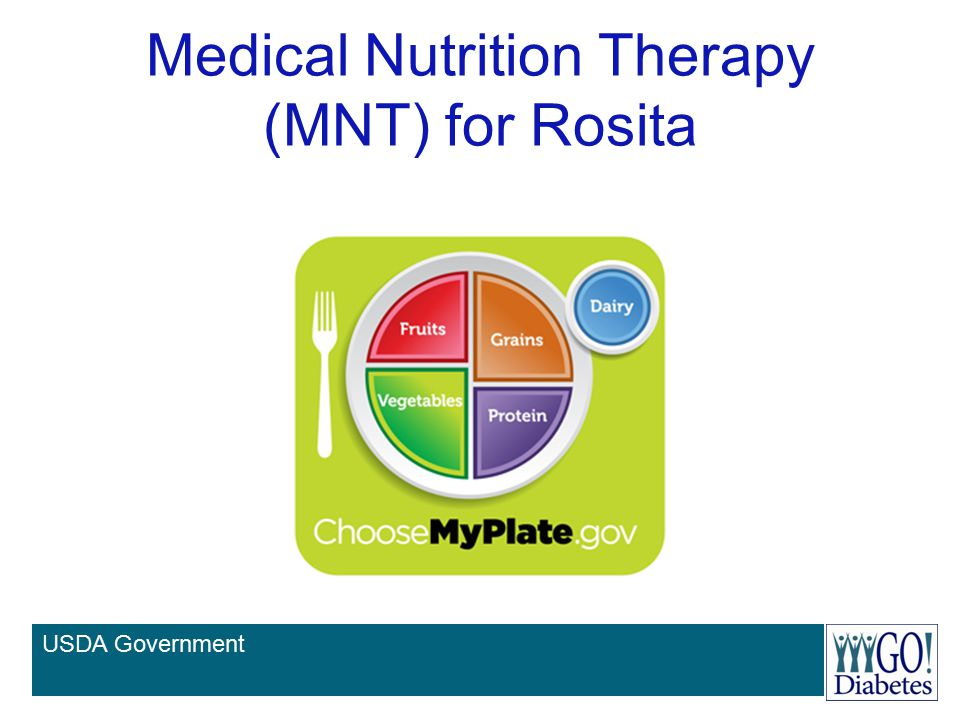 Medical Nutrition Therapy (MNT) for Rosita
