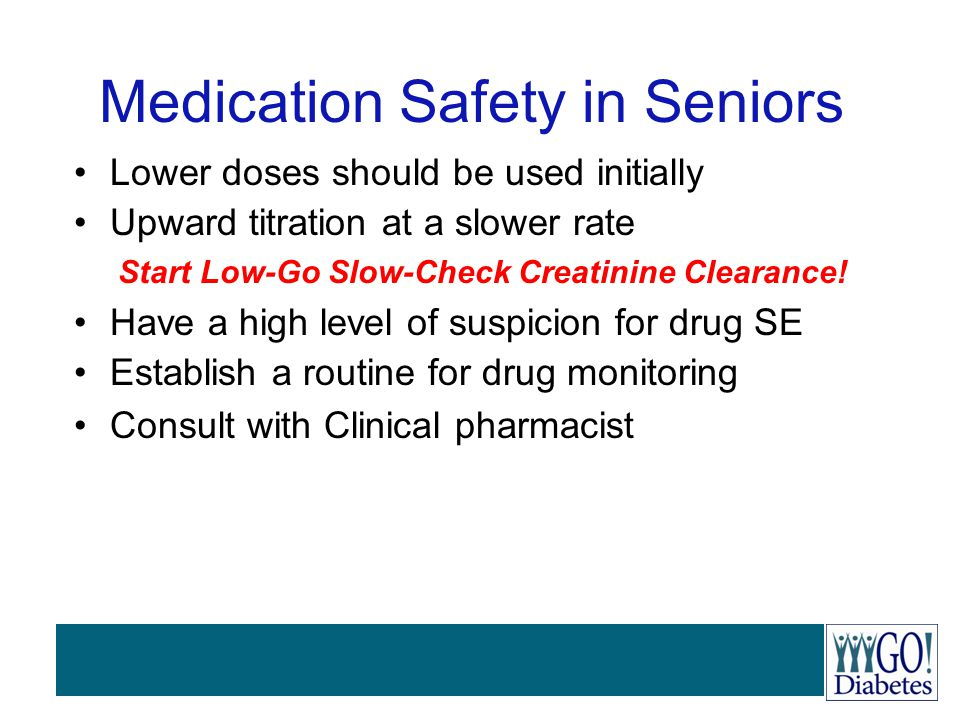 Medication Safety in Seniors