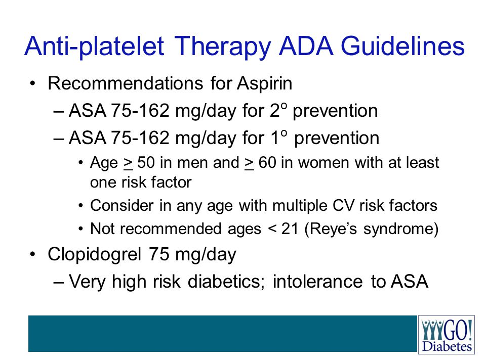 Anti-platelet Therapy ADA Guidelines