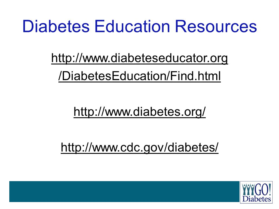 Diabetes Education Resources