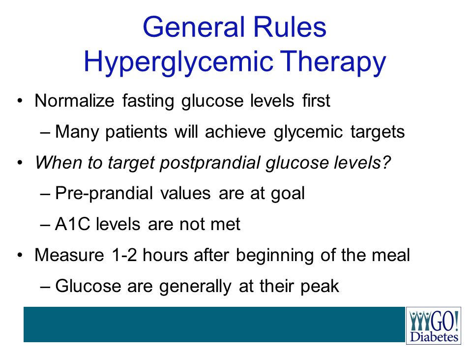 General Rules Hyperglycemic Therapy