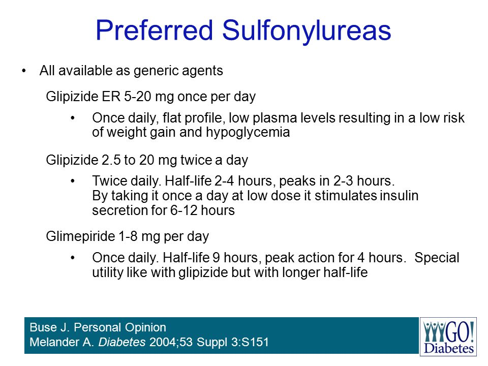 Preferred Sulfonylureas