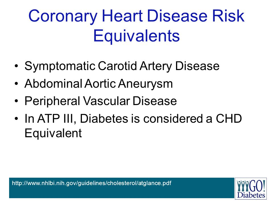 Coronary Heart Disease Risk Equivalents