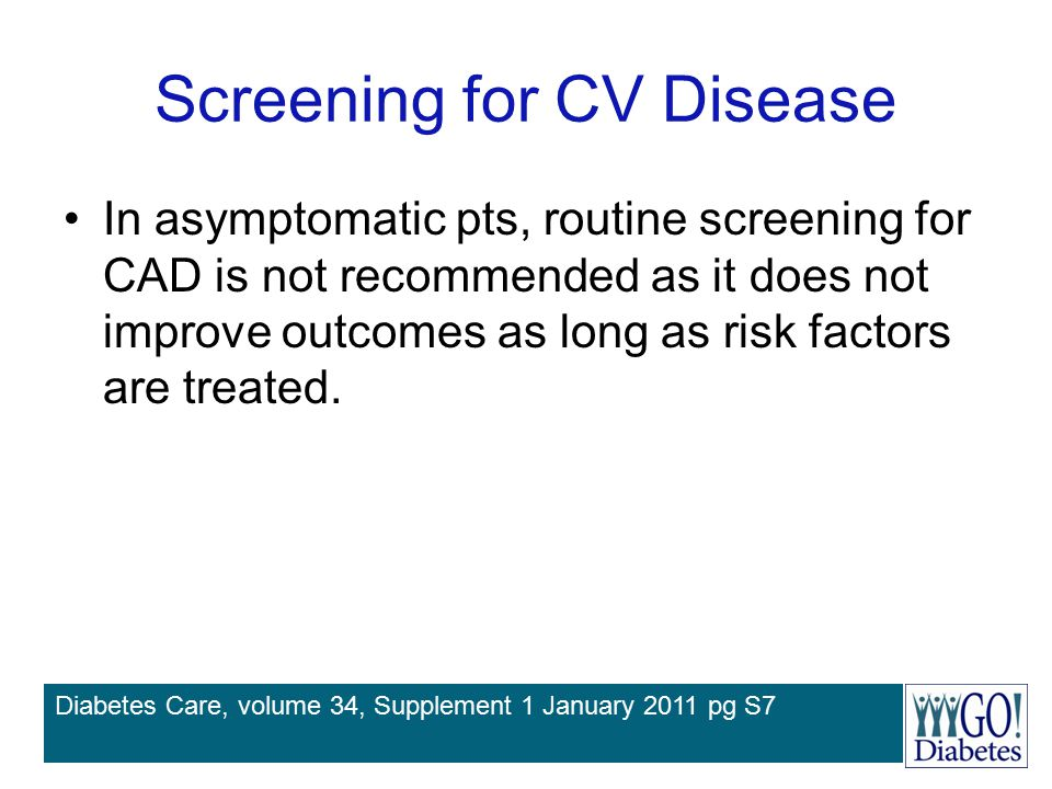 Screening for CV Disease
