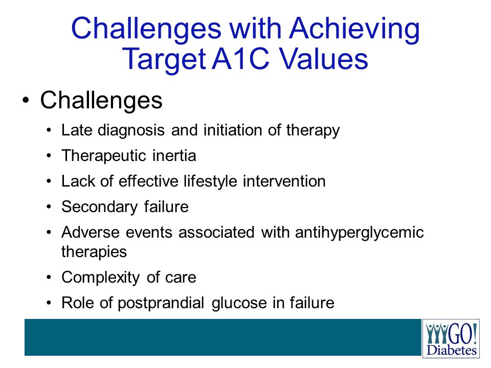 Challenges with Achieving Target A1C Values