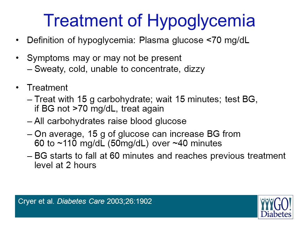 Treatment of Hypoglycemia
