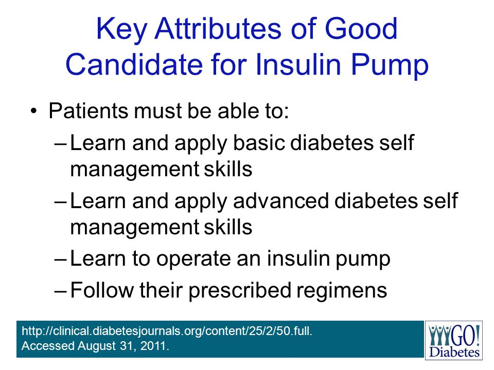 Key Attributes of Good Candidate for Insulin Pump