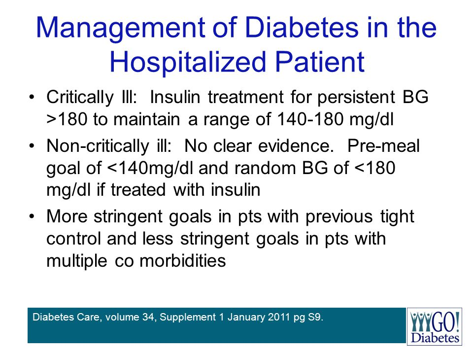 Management of Diabetes in the Hospitalized Patient