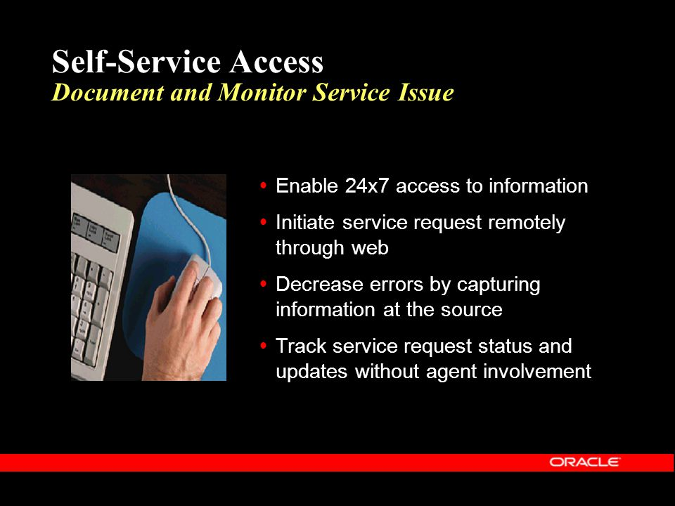 Self-Service Access Document and Monitor Service Issue