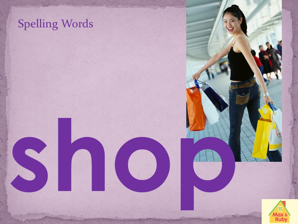 Spelling Words shop