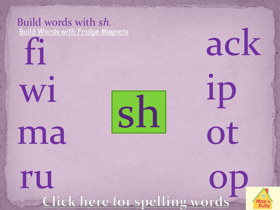 Click here for spelling words