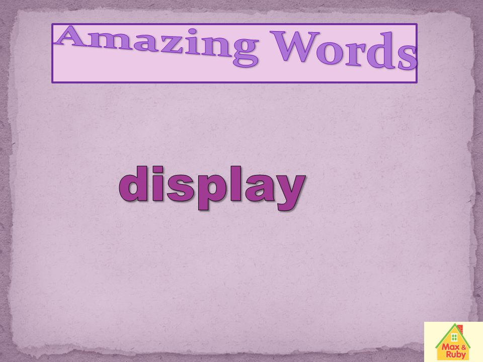Amazing Words display