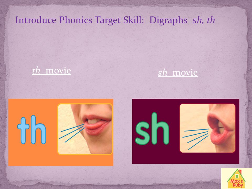 Introduce Phonics Target Skill: Digraphs sh, th