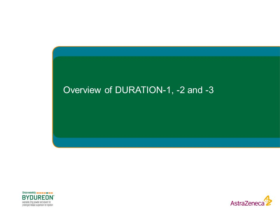 Overview of DURATION-1, -2 and -3