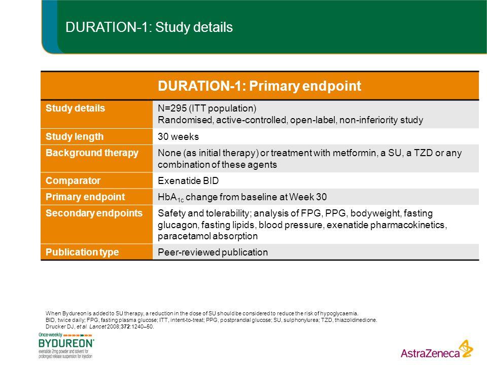 DURATION-1: Study details