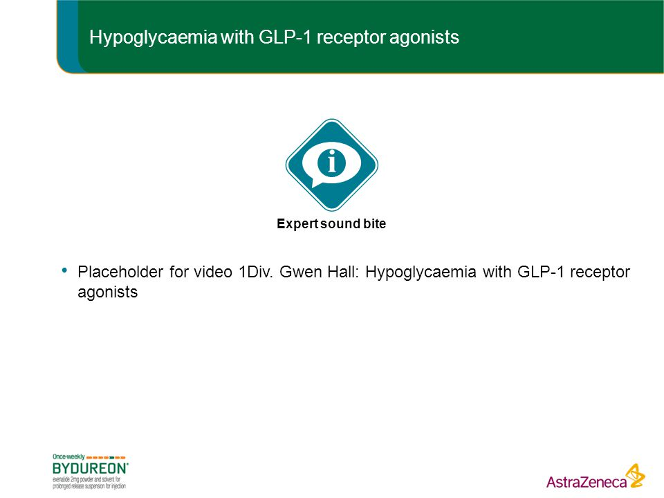 Hypoglycaemia with GLP-1 receptor agonists