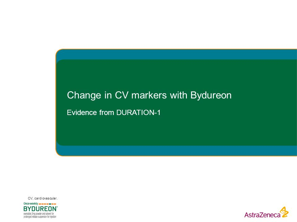 Change in CV markers with Bydureon