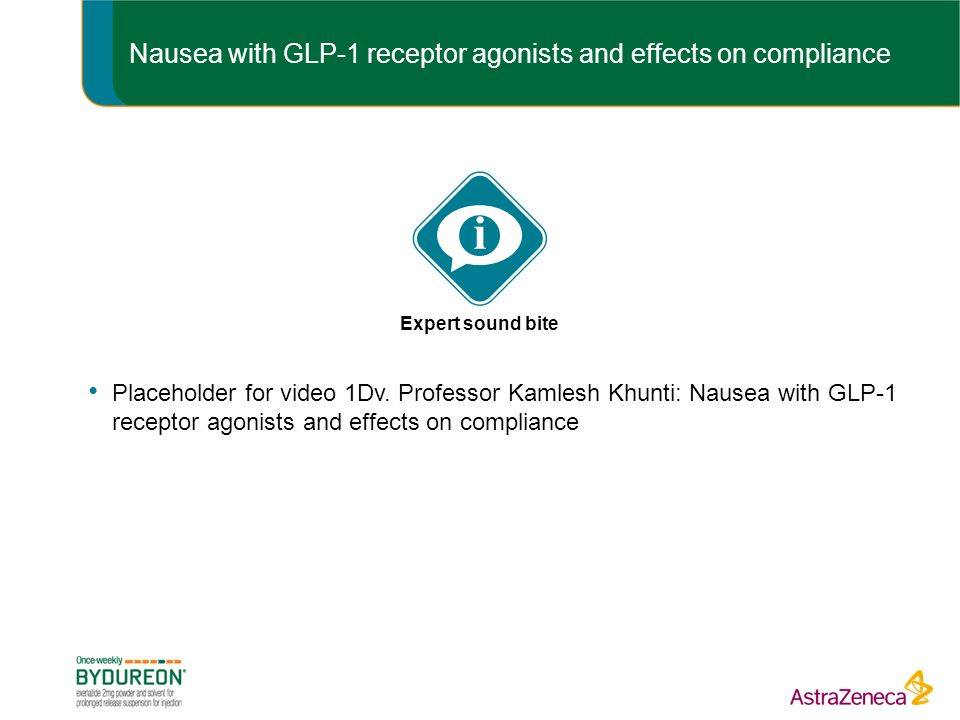 Nausea with GLP-1 receptor agonists and effects on compliance