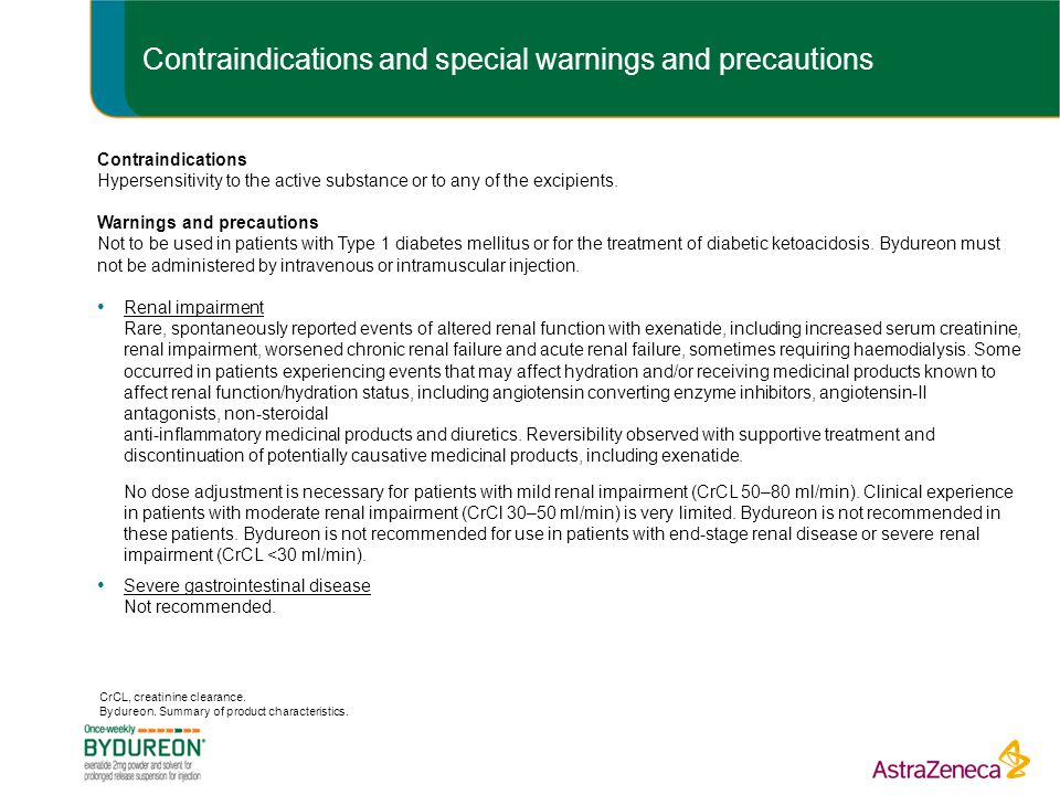 Contraindications and special warnings and precautions