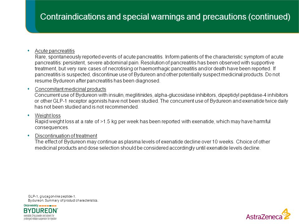 Contraindications and special warnings and precautions (continued)