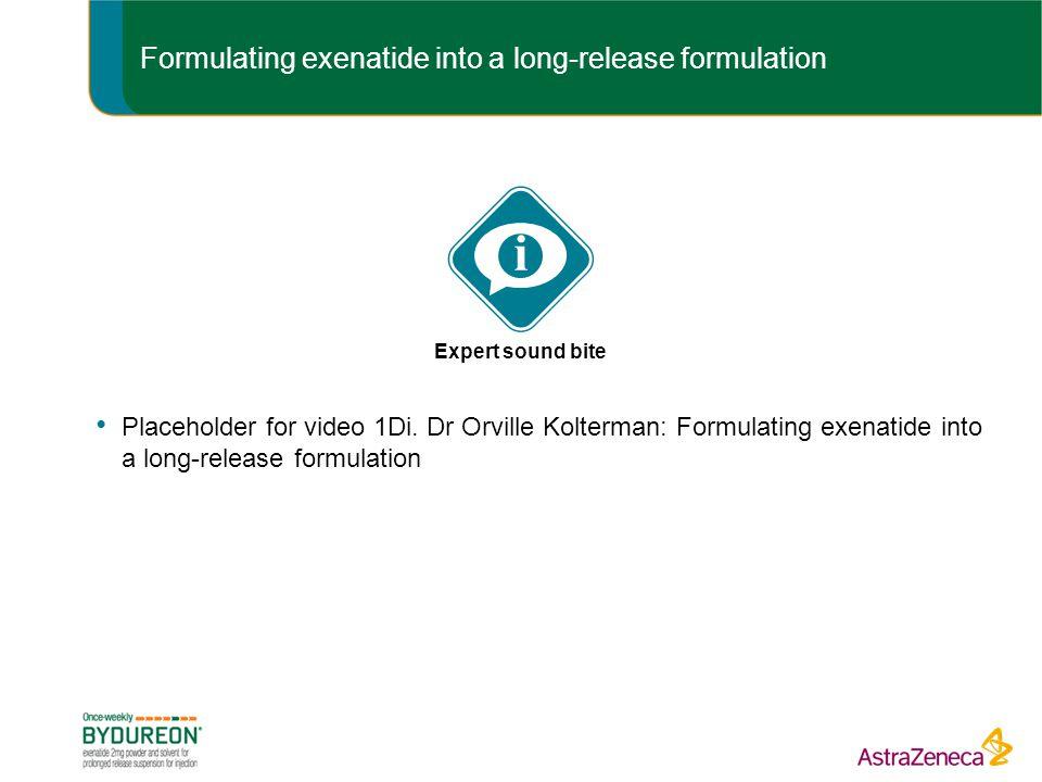 Formulating exenatide into a long-release formulation