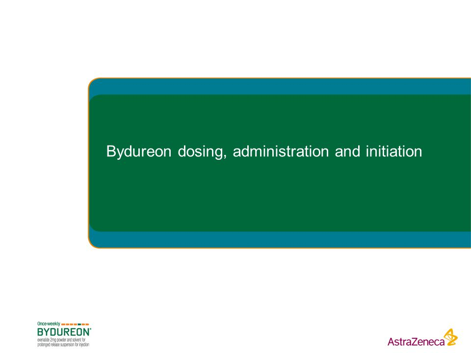 Bydureon dosing, administration and initiation