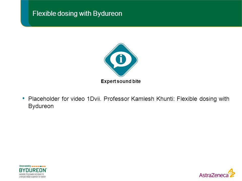 Flexible dosing with Bydureon