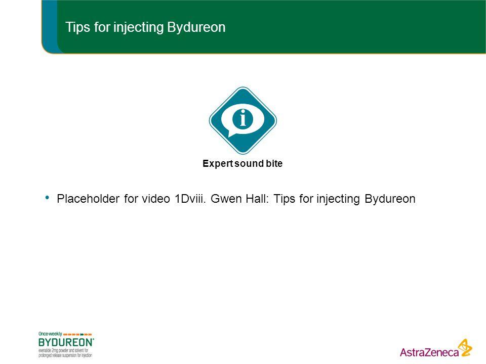 Tips for injecting Bydureon