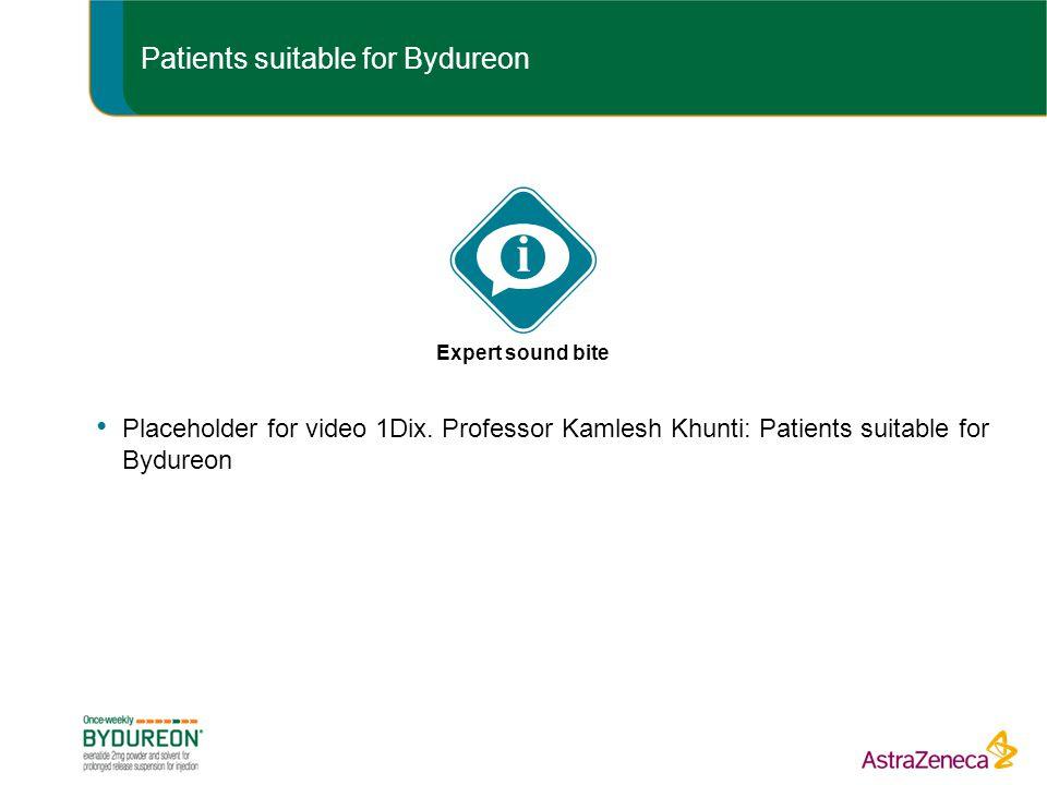 Patients suitable for Bydureon