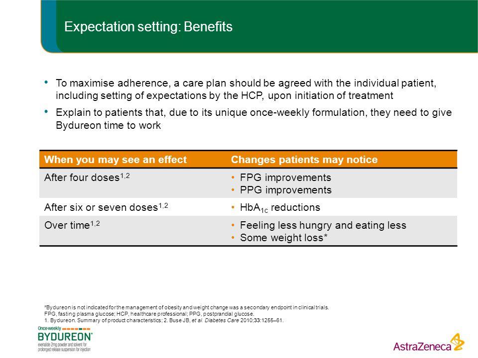 Expectation setting: Benefits