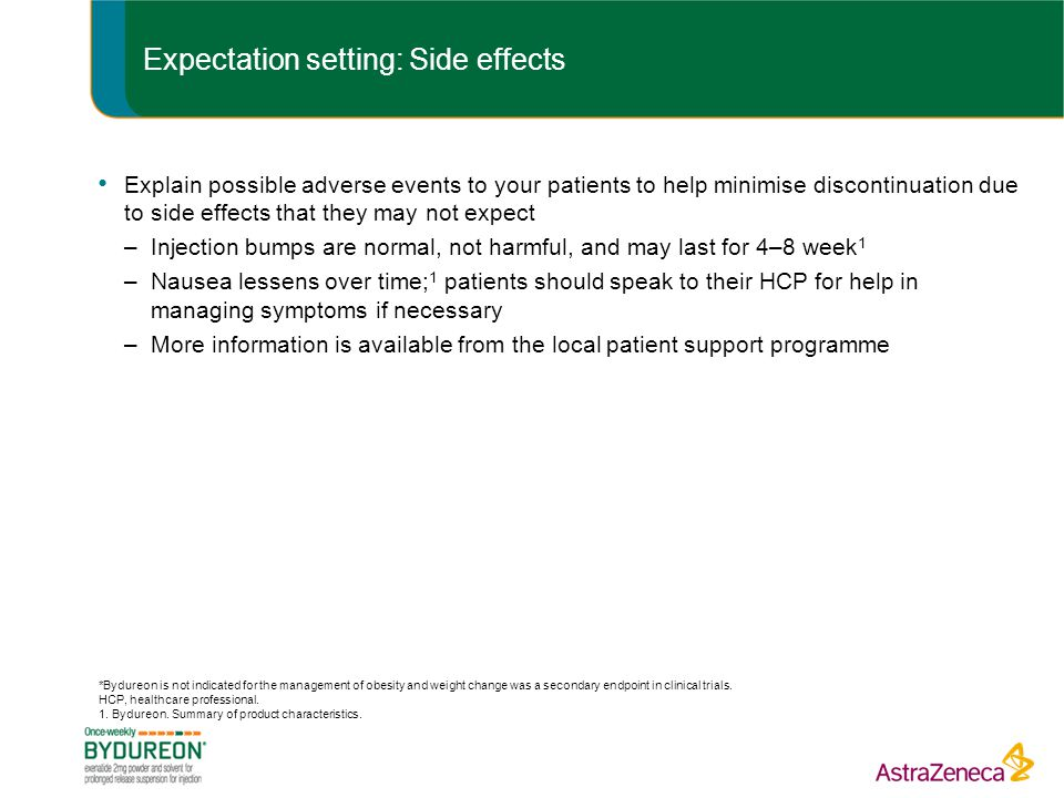 Expectation setting: Side effects
