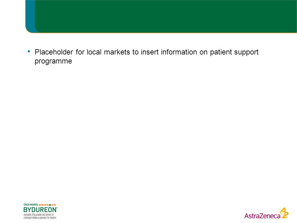 Placeholder for local markets to insert information on patient support programme